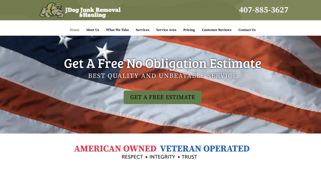 469 Custom Website Design and JDog Junk Removal and Hauling