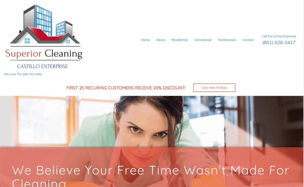 469 Design - Custom Website Design and Castillo Cleaning