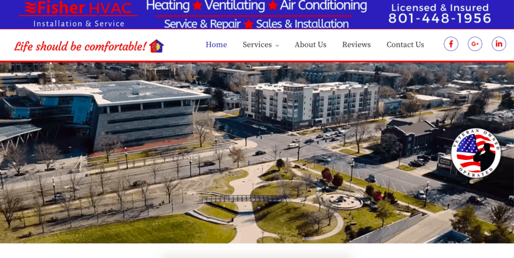 469 Custom Website Design and Fisher HVAC